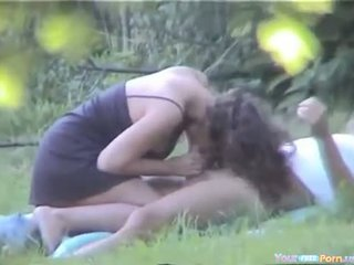 Girlfriend Gets Caught While Cheating Outdoor