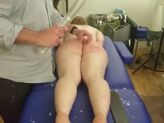 caning klem, whipping vid, vol klisteer tube