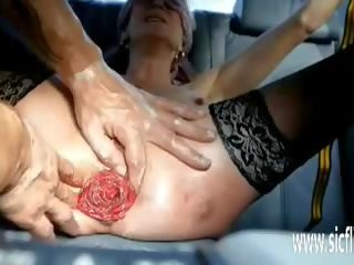 Fisting Her Prolapsing Ass and Pussy in Bondage: Porn 48