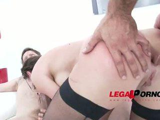 Julie Skyhigh fucked by 4 cocks & DAP'ed SZ978