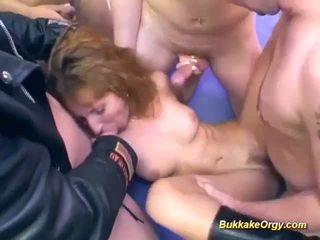 Hot German Bukkake Chick, Free Bukkake Orgy Channel Porn Video