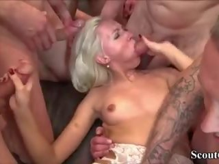 German Teen Helena in Extrem Fuck and Squirt Gangbang