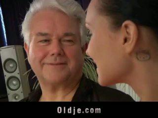 Teenie big tits school girl ass fucking, cock sucking for old teacher <span class=duration>- 6 min</span>