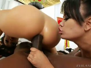 Tempting asian honeys gets anal ripped