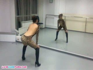 Girlfriend Dresses Up in Leopard Catsuit