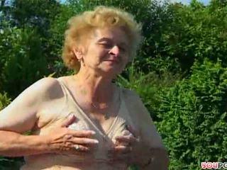 ouder, oma kanaal, buiten- neuken