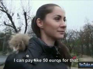 Pretty Eurobabe Aruna Aruna Aghora Pussy Drilled For Cash