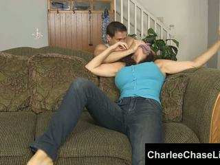 Charlee chase terikat tickled dan kaki kacau!