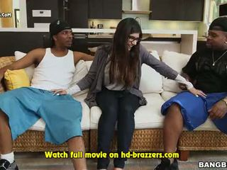 mia khalifas first monster cock threesome
