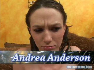 Perky Little Brunette Andrea Anderson Returns To Take On A Thick Meat Stick