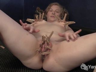 Horny Lili Plays with Clothespins, Free Porn 71