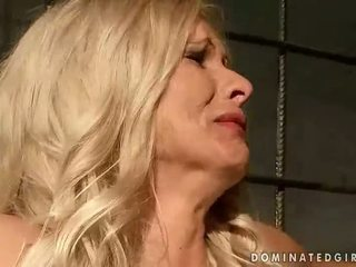 Mature blonde getting bondaged and punished
