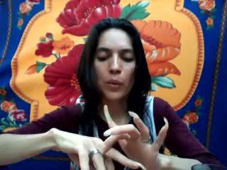 長い ナチュラル nails: 長い nails ポルノの ビデオ b9