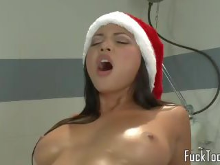 Busty Christmas Babes Pussy Fuck Sybian, Porn 9b