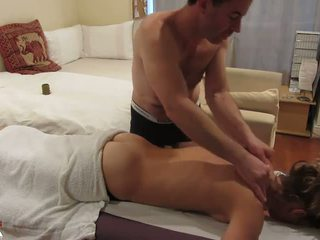 Nude Housewife Recieves Sensual Massage From Naked