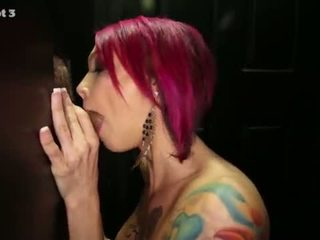 Gloryhole Secrets Tattooed beauty swallows lots of cum <span class=duration>- 7 min</span>