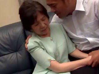 japanse film, grannies scène, echt matures