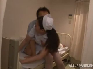 Slender Chinese Nurse Acquires A Zonker In A Hospital