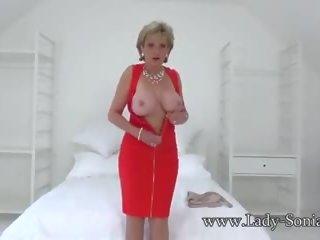 British Mature Lady Sonia Sexy Striptease: Free HD Porn 80