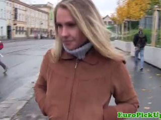 Euro girlnextdoor creampied in public