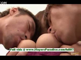 Yuuko sakuraihot asian babe with two guys gets her tits li