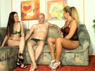 brunette scène, alle orale seks scène, een tieners video-