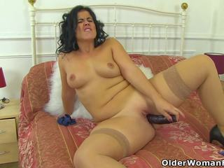 Curvy MILF Montse Swinger Fucks Herself with a Large.