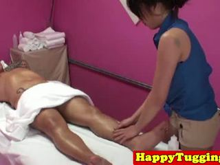 Real asian masseuse caught on spycam