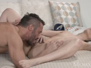 MOM Hairy pussy woman orgasms with lover