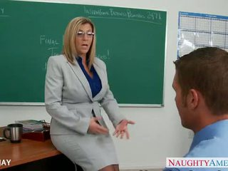 Milf insegnante sara jay cazzo studente