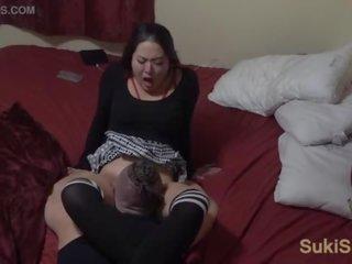 echt orgasme scène, kwaliteit kut likken thumbnail, oraal klem