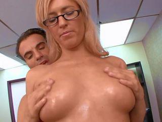 セックス で オフィス とともに 角質 ブロンド, フリー 高解像度の ポルノの 45
