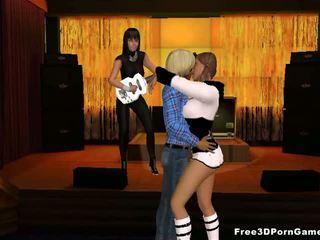 Hot 3D cartoon blonde stripper gets fucked hard