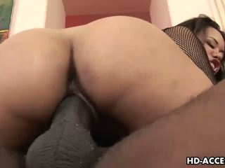 Asian Annie Cruz fucked by big black dick