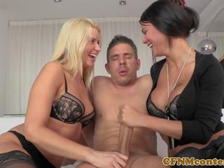 trio, lingerie, vers hd porn vid