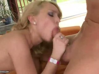 Beautiful Nataly Von riding two cocks