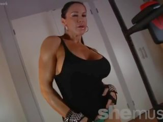 Female Muscle big tits porn, Busty Female Muscle sex movies