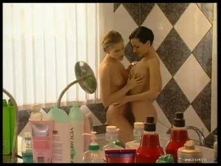 Dark haired Michelle Wild getting horny together with her blonde girlfriend