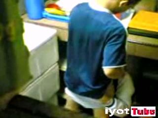 In laws caught fucking in dirty kitchen