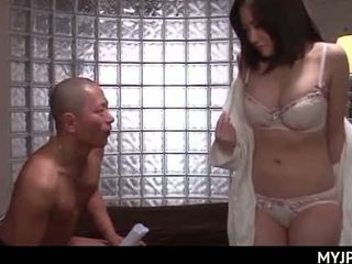 Horny Japanese housewife getting naked for a wild fuck