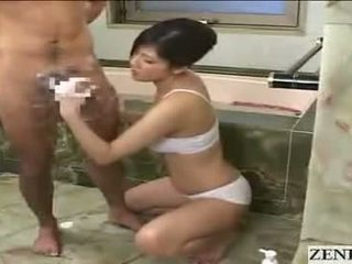 जपानीस मोम gets फेशियल
