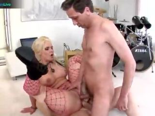Nympho Phoenix Marie takes two cocks on both her holes