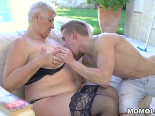 Fat Grandma's Tits Covered with Jizz, HD Porn d2