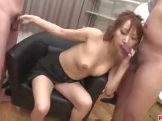 Anna Mizukawa Pumped and Made to Swallow Fresh Jizz...