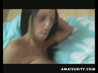 Busty ex girlfriend blowjob and anal with creampie