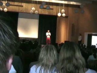 kijken publiek neuken, hq school klem, podium neuken