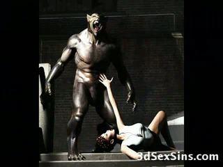 3D Demons Fuck Hot Babes!