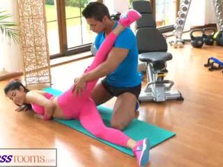 kijken geschiktheid neuken, yoga pants actie, groot lycra kanaal