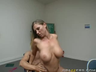 Amazing gorgeous milf with big tits getting her pussy fucked and getting cumshot