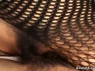 জাপানি, fishnet, bodystocking